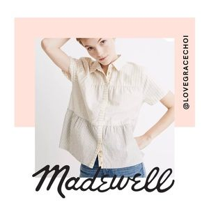 Madewell | The Denim Project Mixed Seam Top
